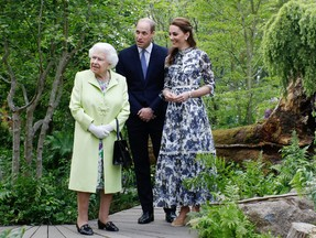 The Queen and Duke and Duchess of Cambridge at RHS Chelsea Flower Show 2019